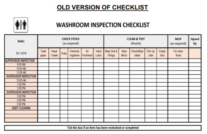 SA Security Group_Old Manual Checklist