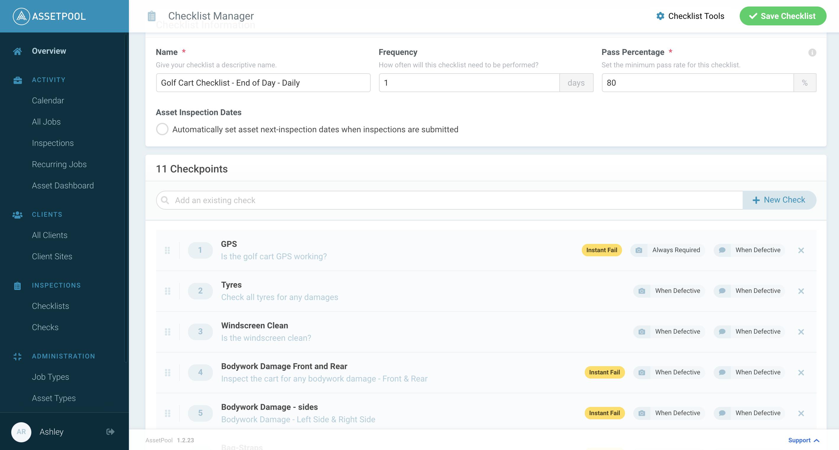 checklist-manager